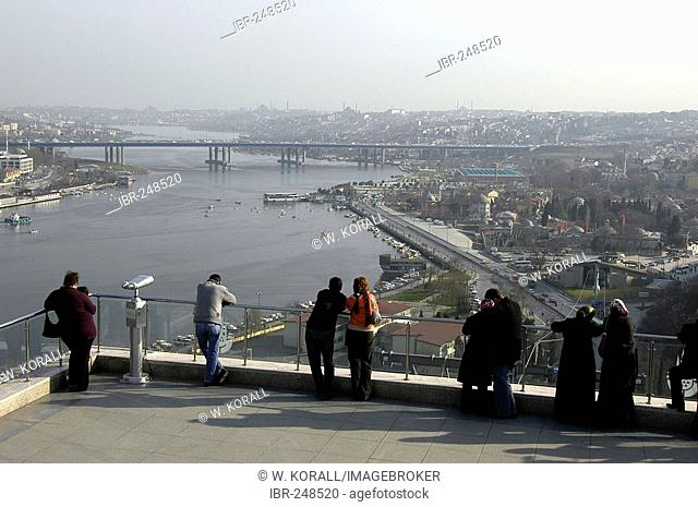 Eyuep lookout onto Golden Horn, Cafe Pierre Loti, Istanbul, Turkey