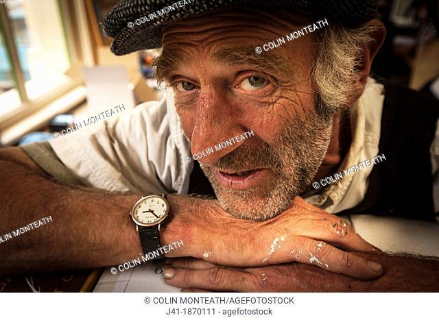 Poet, painter, printer and philosopher David Merritt spins a yarn during Victorian festival, Oamaru, Otago