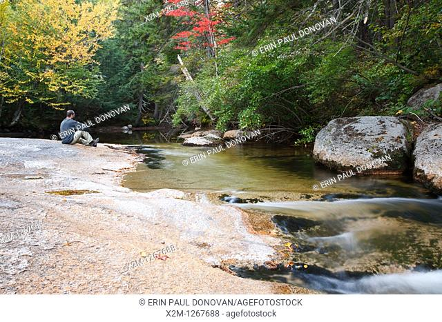 Swift River during the autumn months  This river is located along the Kancamagus Highway route 112 which is one of New England's scenic byways  Located in the...