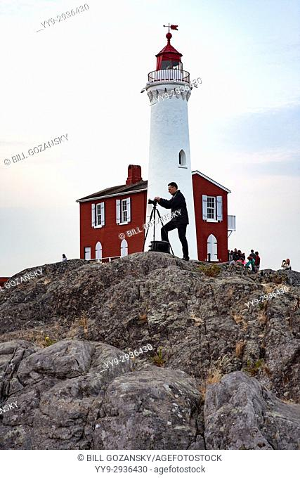 Photographer at Fisgard Lighthousel, Victoria, Vancouver Island, British Columbia, Canada