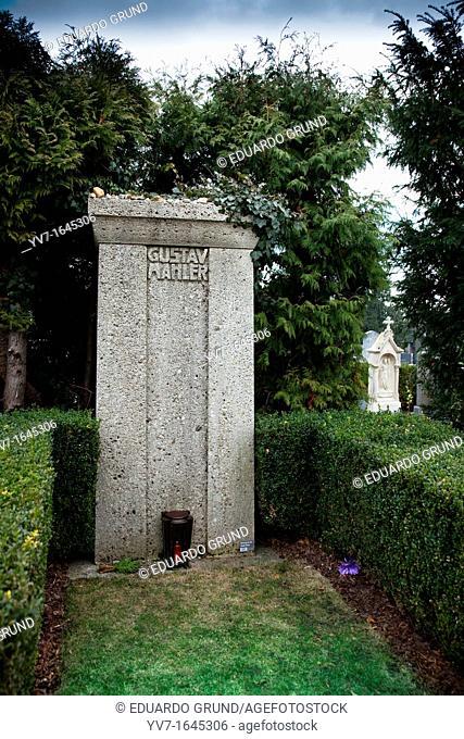 Gustav MAHLER grave in Grinzing Cemetery  Vienna, Austria