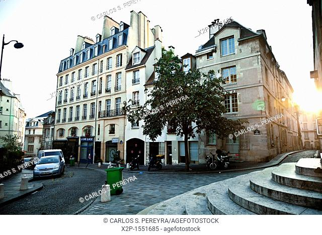 Montagne St  Genevieve, the street where the actor of 'Midnight in Paris' Woody Allen each night go, Paris, France