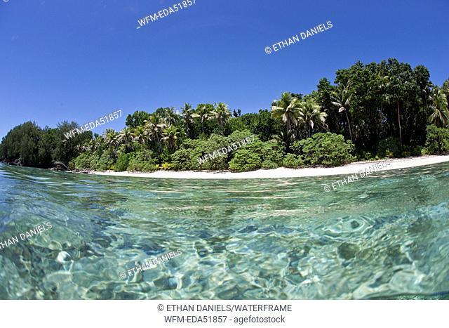 Beach of Rock Islands, Micronesia, Palau