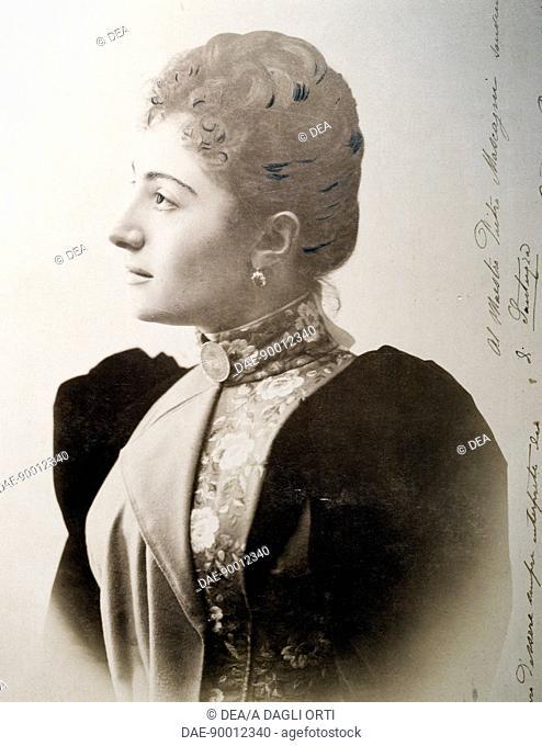 Gemma Bellincioni (Monza, 1864 - Naples, 1950), Italian soprano, first interpreter of the role of Santuzza of the Rustic Chivalry, by Pietro Mascagni