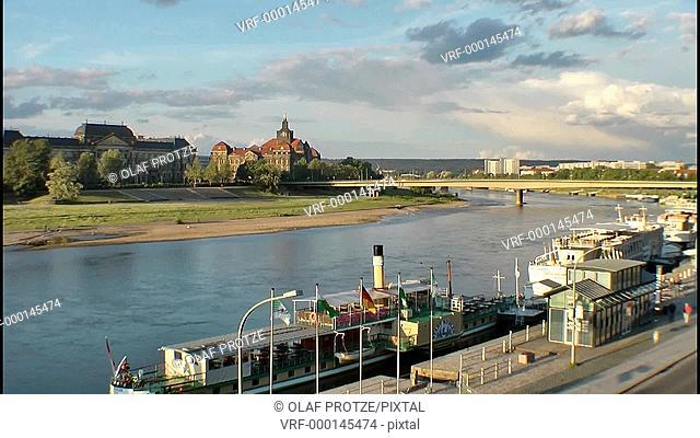 Elbe River in Dresden, East Germany