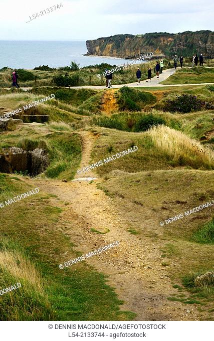 Pointe Du Hoc Omaha Beach Normandy American Cemetery France Colleville Sur Mer FR Europe WWII