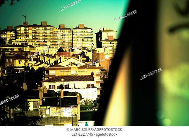 Cityscape, buildings. Barcelona, Catalonia, Spain
