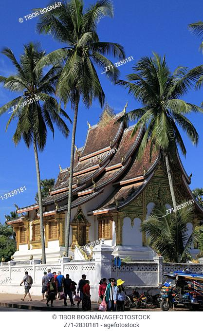 Laos; Luang Prabang; Haw Pha Bang, Royal Temple,