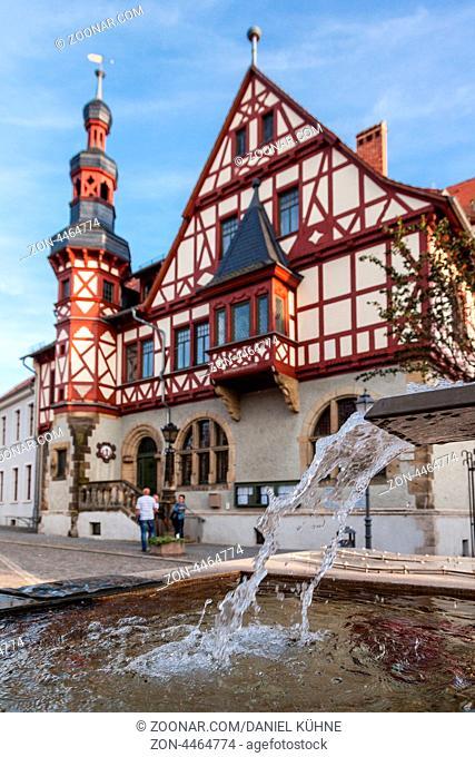 Martplatz mit Brunnen Harzgerode / Harz