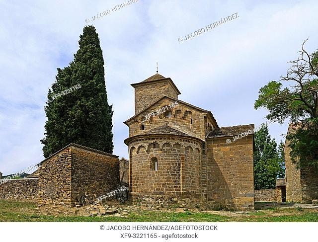 Romanesque church of San Fructuoso. Barós. Huesca province. Aragón. Spain