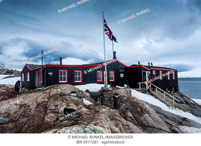 Port Lockroy research station, today a museum, Wiencke, Palmer Archipelago, Antarctica