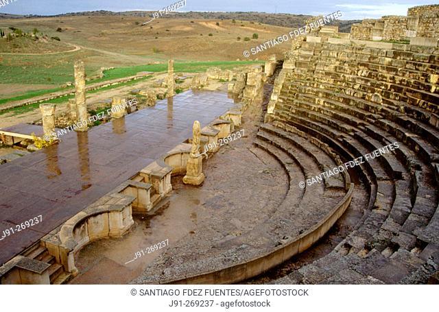 Roman Amphitheather. Segobriga ruins. Cuenca. Castilla La Mancha. Spain