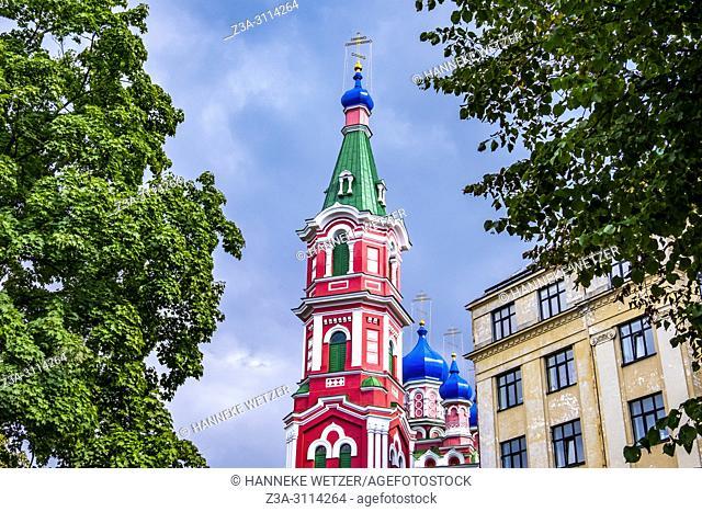 Holy Trinity Orthodox Church in Riga, Latvia, Europe