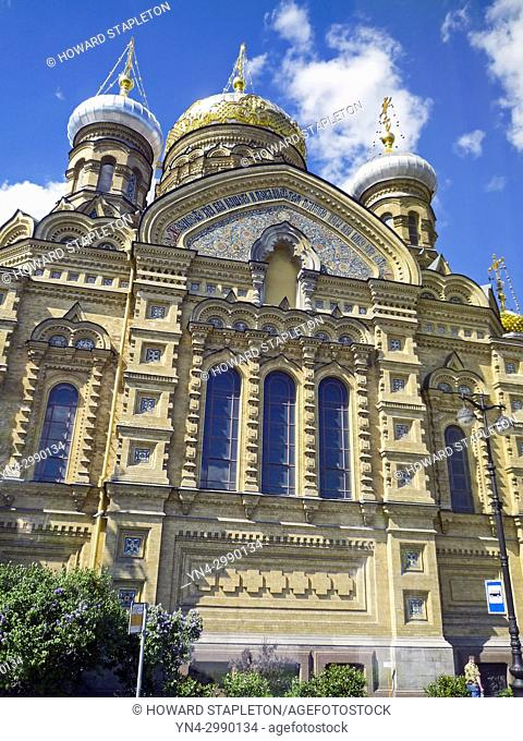 St. Petersburg, Russia. Cathedral of the Assumption of the Blessed Virgin Mary