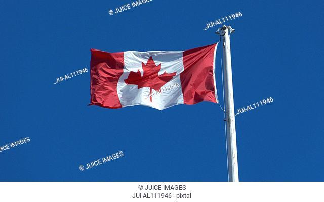 Canadian Flag, Victoria, Vancouver Island, British Columbia, Canada