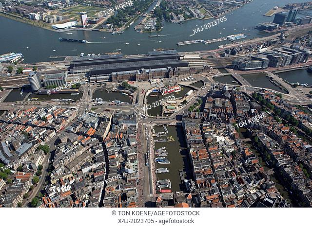 Central train station area in Amsterdam