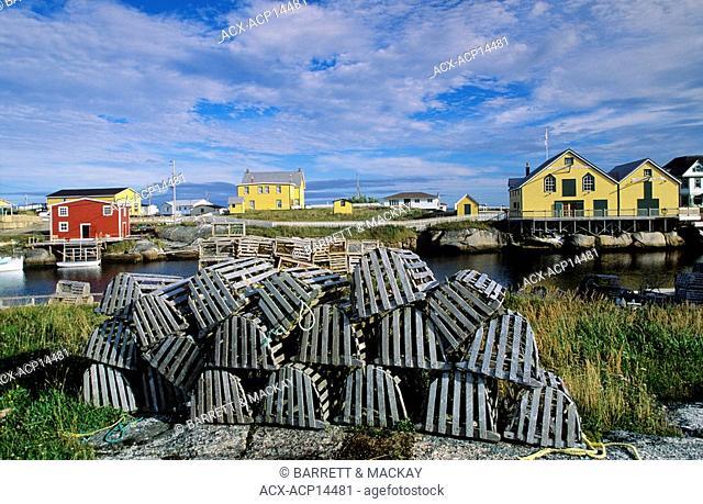Barbour Living Heritage Village, Newtown, Newfoundland, Fishing Village, Historical, lobster traps