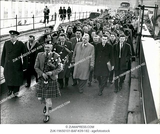 Jan. 01, 1965 - The 'Plane Maker' Come to London. Demonstrations Against Aircraft Contract Cancellation. Two special trains arrived at Waterloo Station this...