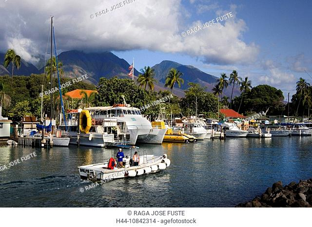 USA, America, United States, North America, Hawaii State, Maui Island, Lahaina City, October 2007, harbor, harbor, mar