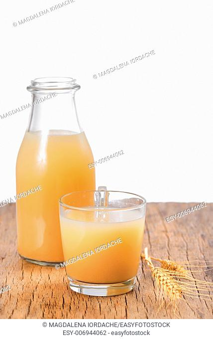 Boza drink from fermented cereal beverage