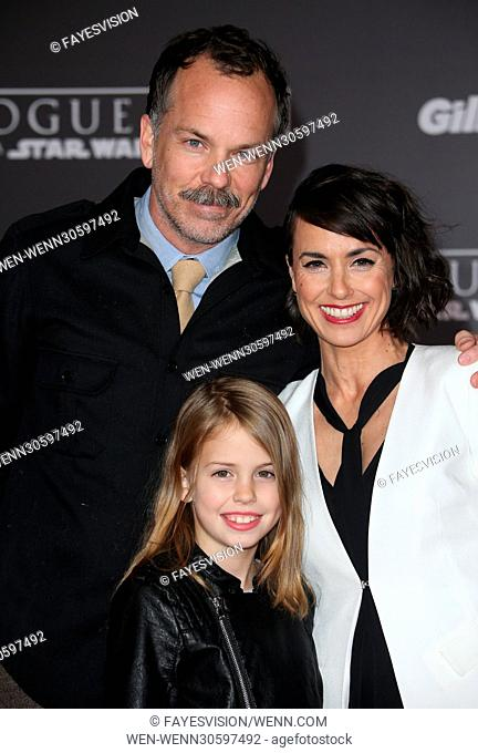 """Premiere Of Walt Disney Pictures And Lucasfilm's """"""""Rogue One: A Star Wars Story"""""""" Featuring: Constance Zimmer, Russ Lamoureux"""