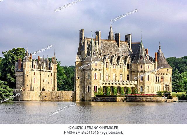 France, Loire-Atlantique, Missillac, Briere regional nature park, Bretesche castle, 15th century medieval castle, Relais & Chateaux 4 stars hotel
