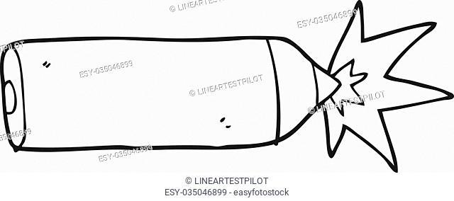 freehand drawn black and white cartoon pencil