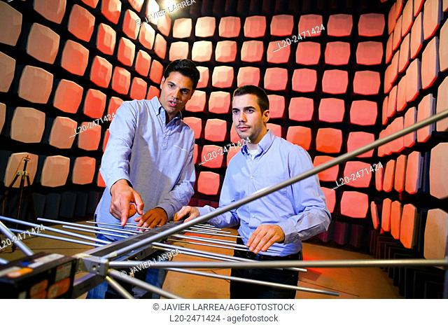 Researchers. Anechoic chamber. EMC & Telecom Lab. Certification of Low Voltage Electrical & Electronic Products. Technological Services to Industry