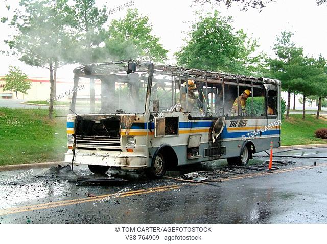 Bus Fire in Greenbelt, Maryland
