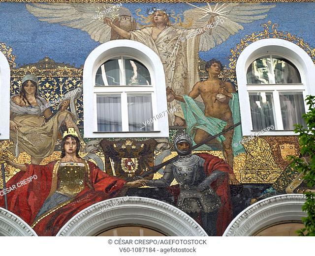 Detail of façade, Wien, Austria