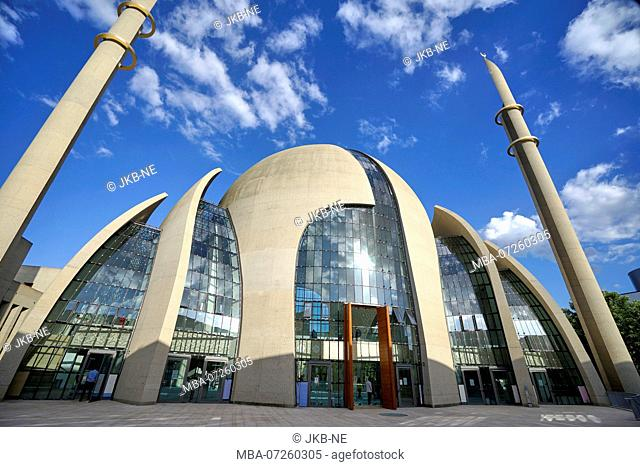 Germany, North Rhine-Westphalia, Cologne, new DITIB Central Mosque in Cologne-Ehrenfeld