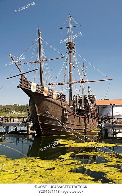 The Wharf of the Caravels, Santa Maria ship, Palos de la Frontera, Huelva province, Region of Andalusia, Spain, Europe