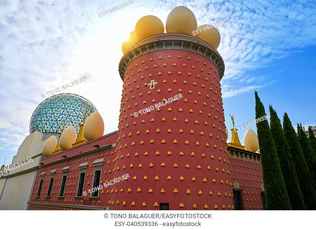 Salvador Dali museum in Figueres figueras of Catalonia Spain