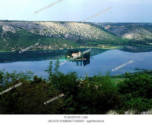 A Franciscan Monastery On Visovac Islet In Krka National Park In Croatia