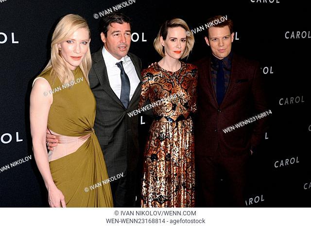 """""""Carol"""" New York Premiere - Red Carpet Arrivals Featuring: Cate Blanchett, Kyle Chandler, Sarah Paulson, Jake Lacy Where: New York, New York"