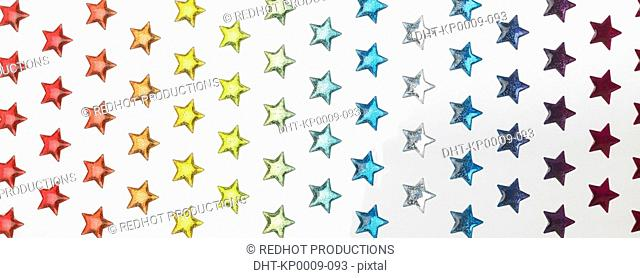 Various colourful stars