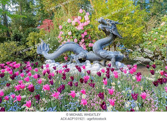 Chinese Dragon, Butchart Gardens, Brentwood Bay, near Victoria, British Columbia, Canada