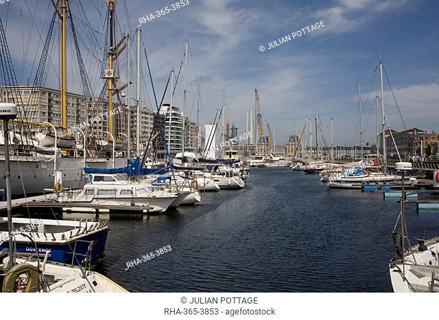 Mercator Marina with many moored boats, Ostend, Belgium, Europe