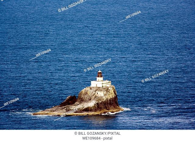 View of Tillamook Rock Lighthouse from Ecola State Park - Cannon Beach, Oregon