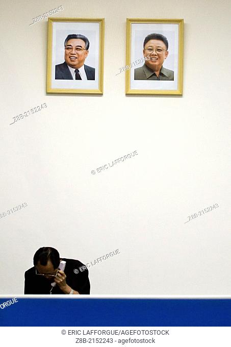 Kim Il Sung And Kim Jong Il Portraits, Pyongyang, North Korea
