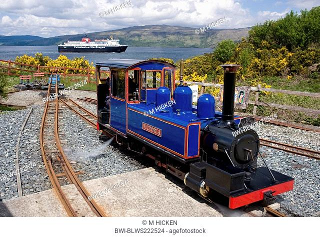 mull rail steam locomotive victoria, United Kingdom, Scotland, Isle of Mull