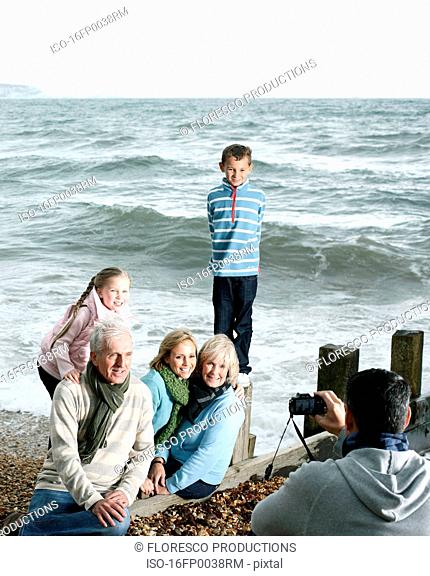 Family Photograph at Beach