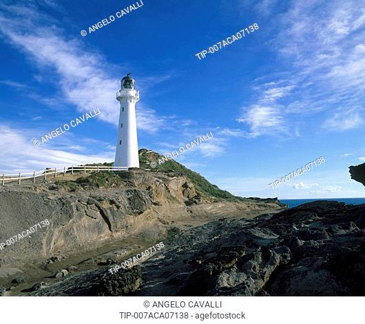 New Zealand, North Island, Castlepoint lighthouse