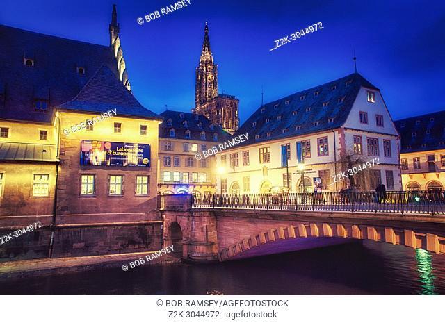 View from Pont du Corbeau (Crow bridge). Old City. Strasbourg. France