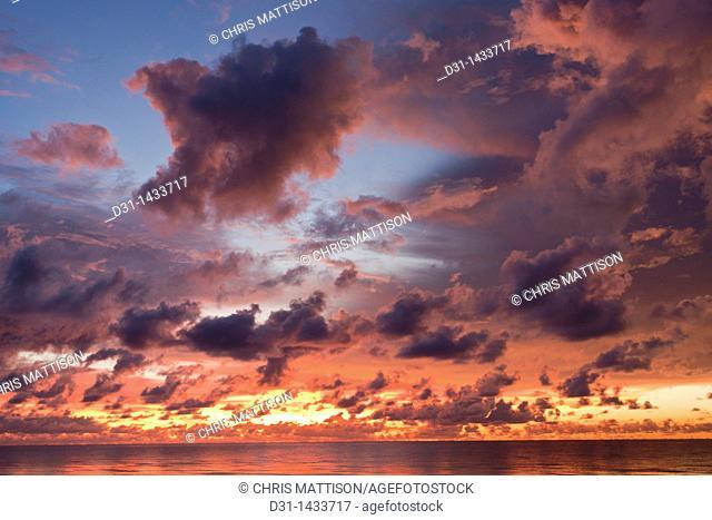 Dramatic sunset, Sabah, Borneo, Malaysia