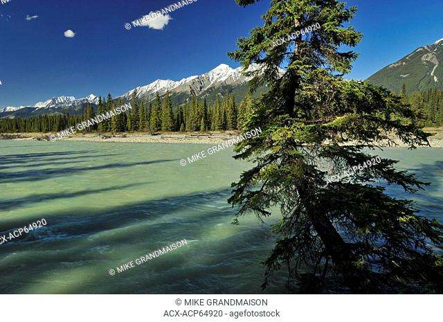 Kootenay River and Rocky Mountains, Kootenay National Park, British Columbia, Canada