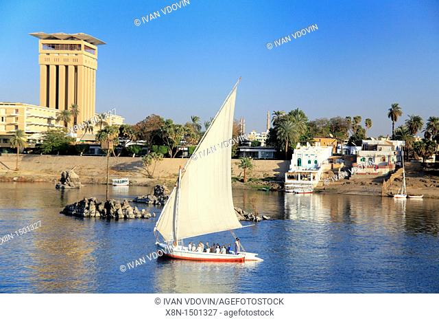 Feluccas on the Nile, Aswan, Egypt