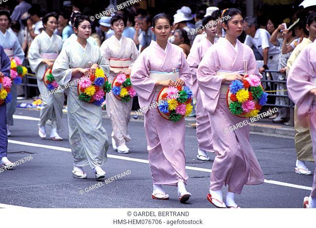 Japan, Honshu Island, Kinki region, Kyoto, Gion Matsuri Festival (in July)