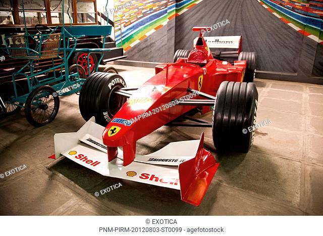 Formula one car in a museum, Sudha Car Museum, Hyderabad, Andhra Pradesh, India