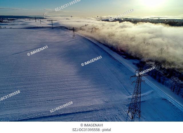Tokachi in winter, Hokkaido, Japan